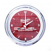 "16"" Chrome Steel Neon Clock"